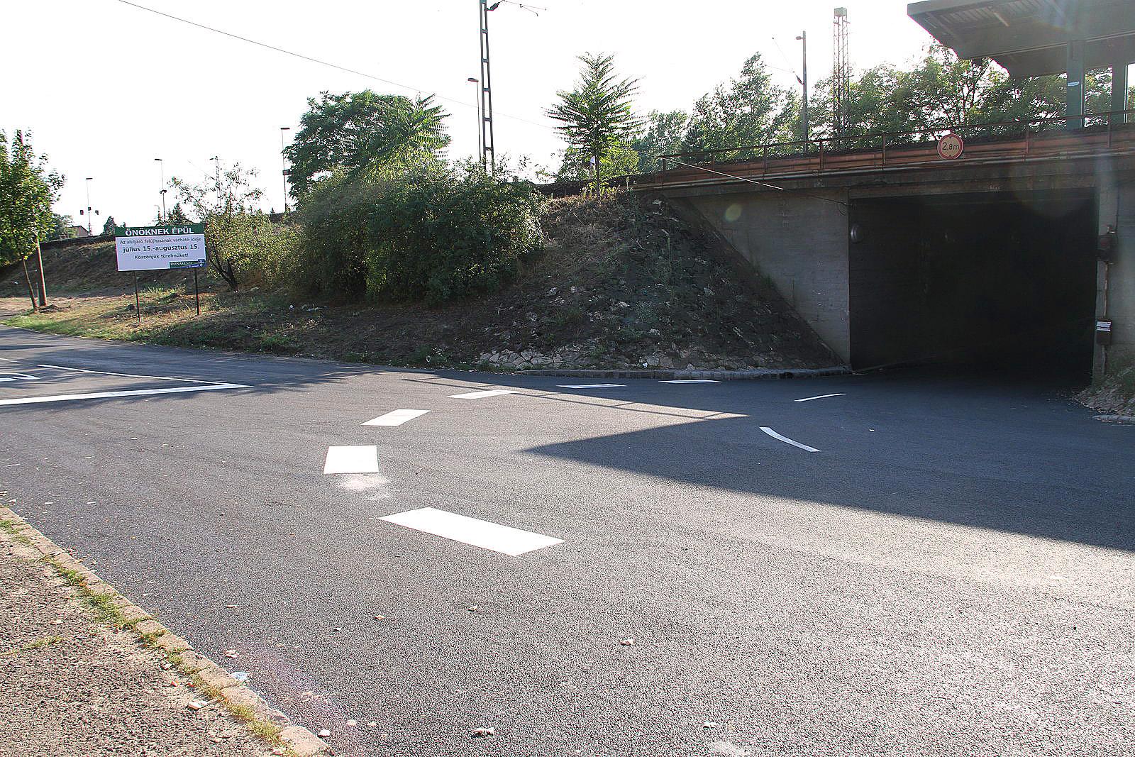 dunakeszi útépítés