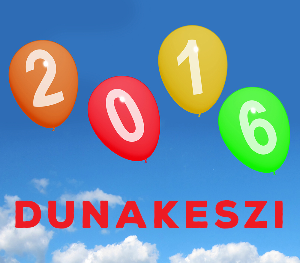 2016 On Balloons Representing Year Two Thousand And Sixteen Celebration