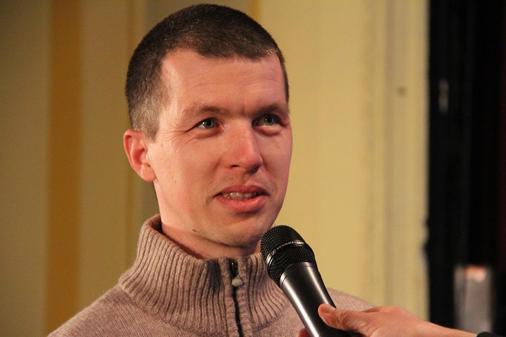 A második helyezett,  Kalinovits Gergő.