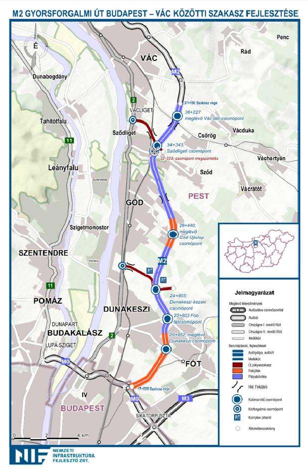 M2-es térkép