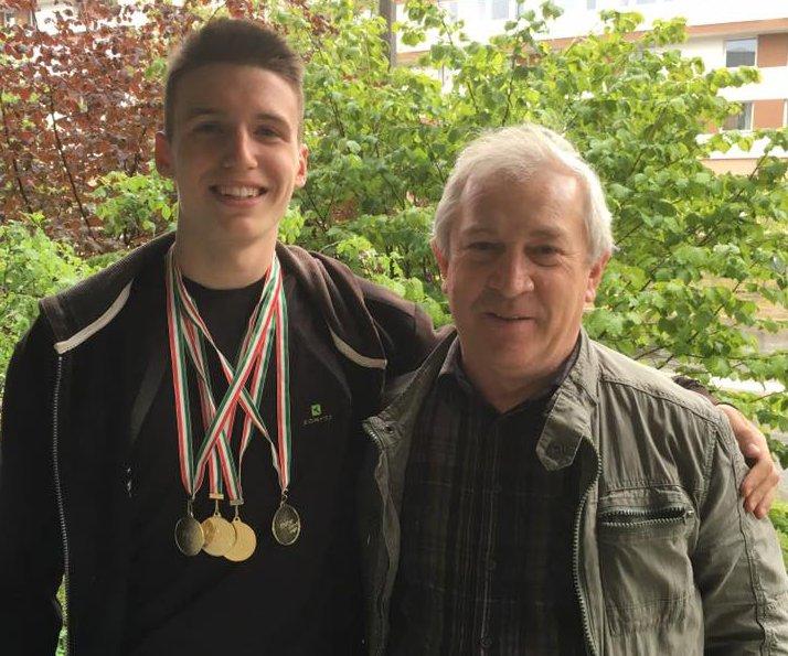Eszes Dani, edzőjével Maracskó Pállal