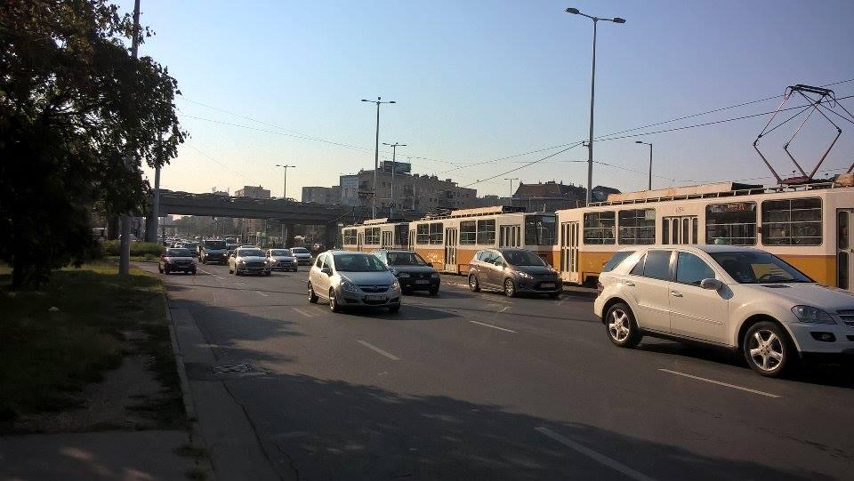 Forgalom az Árpád hídnál
