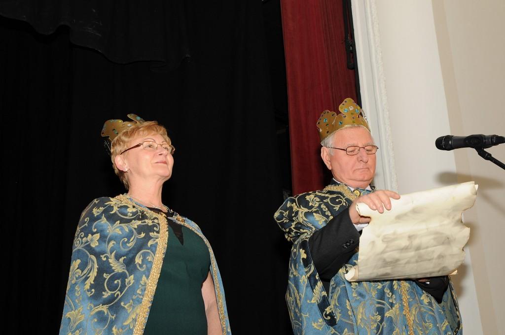 A farsang hercege és hercegnője megnyitja a bált  - Fotó: Pas Dezső