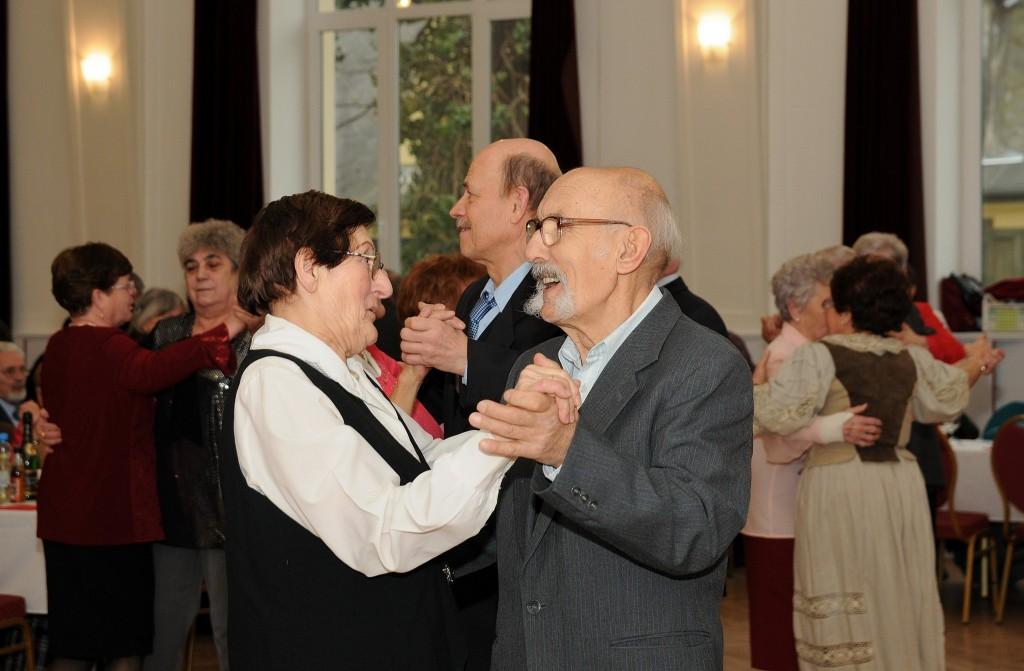 Patyi Margit és férje, akiknek a kapcsolata éppen ebben a bálteremben indult - Fotó: Pas Dezső