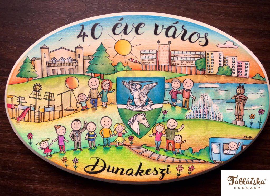 táblácska dunakeszi 40 éves